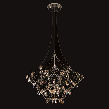 Crystal Galaxy Chandelier W / Downlight