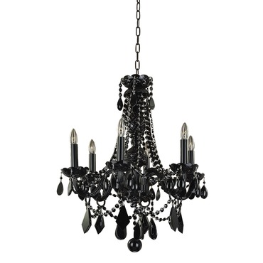 Black Tie 6 Light Chandelier by Glow Lighting | 583JD6LJB-7J
