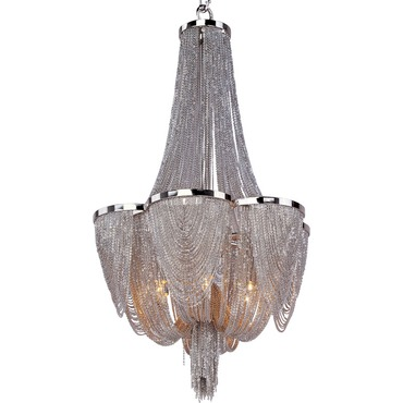 Chantilly Six Light Chandelier by Maxim Lighting | 21464NKPN