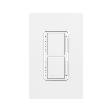 Maestro 300W Incandescent Dual Dimmer by Lutron | ma-l3l3-wh