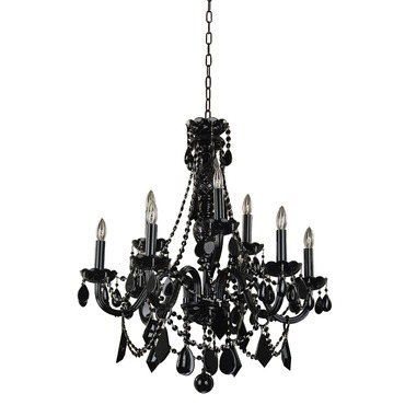 Black Tie 9 Light Chandelier by Glow Lighting | 583JD9LJB-7J