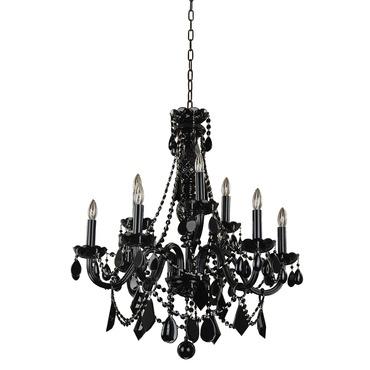 Black Tie 9 Light Chandelier by Glow Lighting | 583JD9LJB-7J