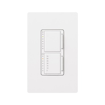Maestro Dual Dimmer with Timer Switch by Lutron | MA-L3T251-WH
