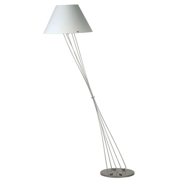 Liz Terra D Cone Shade Floor Lamp W / Foot Dimmer