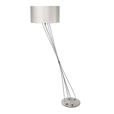 Liz Terra D Drum Shade Floor Lamp W / Foot Dimmer