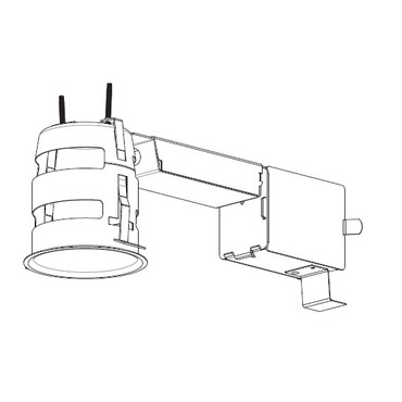 RELED300U1 3.5 Inch 12W Non-IC Remodel Housing by Contrast Lighting | RELED300U1