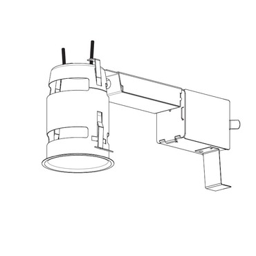 RELED300LU1 3.5 Inch 12W Non-IC Remodel Housing