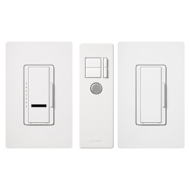 Maestro IR 600W Incandescent Multi-Location Dimmer Package by Lutron | mir-603thw-wh
