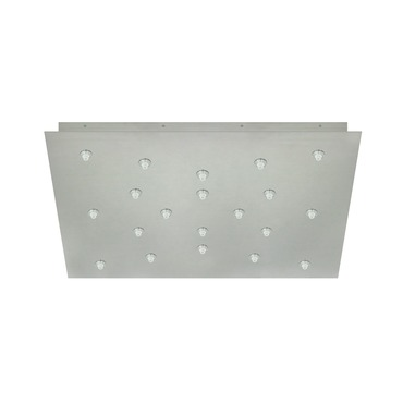 Fast Jack 24 Inch Square 20 Port Canopy by PureEdge Lighting | FJP-24SQ-20-20W-SN