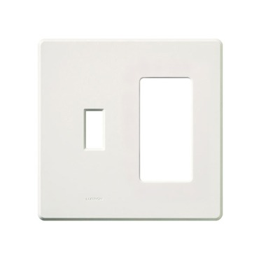 Fassada 2 Gang Combo Traditional / Designer Wall Plate  by Lutron | fg-2-td-wh