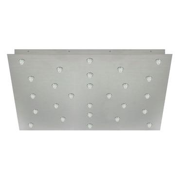 Fast Jack 24 Inch Square 26 Port Canopy by Edge Lighting | FJP-24SQ-26-20W-SN