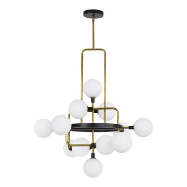 Viaggio Chandelier w/ Opal Glass