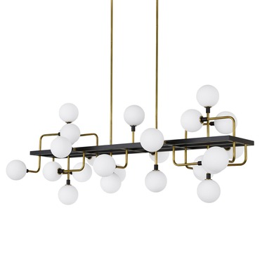 Viaggio Linear Suspension with Opal Glass