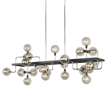 Viaggio Linear Suspension with Smoke Glass