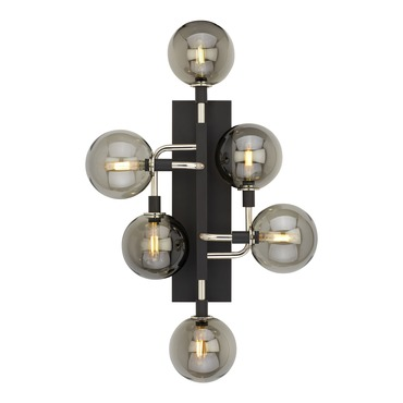 Viaggio Wall Light with Smoke Glass