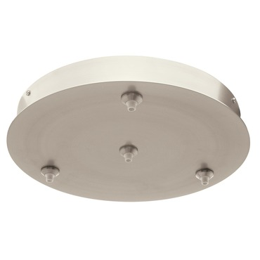 FJ 12 Inch Round 4 Port Canopy Without Transformer by PureEdge Lighting | FJC-12RD-4-SN