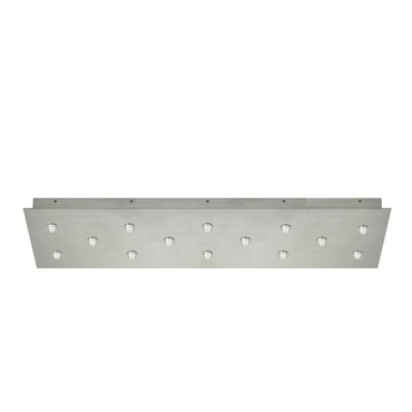 FJ 34 Inch Rectangle 14 Port Canopy Without Transformer  by Edge Lighting | FJC-33RE-14-SN
