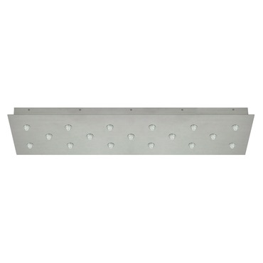 FJ 34 Inch Rectangle 17 Port Canopy Without Transformer  by PureEdge Lighting | FJC-33RE-17-SN