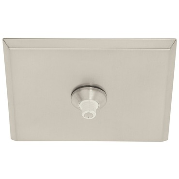 FJ 4 Inch Square Canopy Without Transformer by Edge Lighting | FJC-4SQ-SN