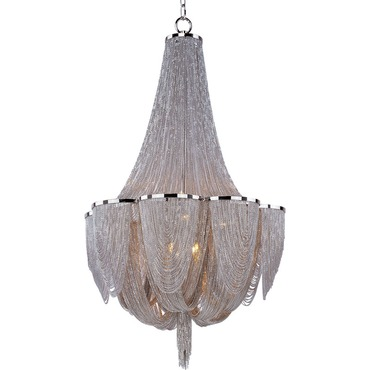 Chantilly 10 Light Chandelier by Maxim Lighting | 21465NKPN