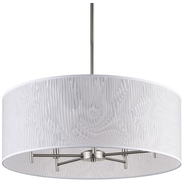 Walker 5 Arm Chandelier W / Drum Shade