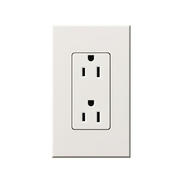 Nova T 15A Receptacle by Lutron | ntr-15-wh