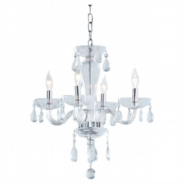 Gatsby 4 Light Chandelier by Lightology Collection | W83126C16-CL