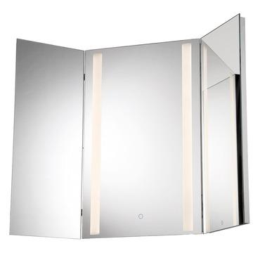Tri Fold LED Mirror
