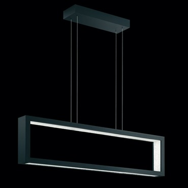 Revealed 3000K LED Linear Suspension by Swarovski | SRE180-BK2