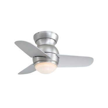 Spacesaver Ceiling Flush Mount Fan with Light by Minka Aire | F510-BS