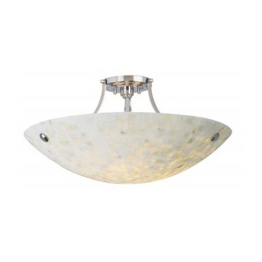 Pompeii Semi-Flush Ceiling Mount by Stone Lighting | CL510MBMSSNMB6