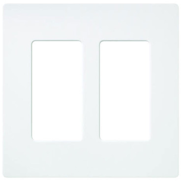 Claro 2-Gang Wall Plate by Lutron | sc-2-sw