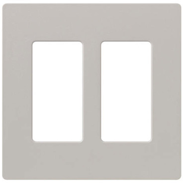 Claro 2-Gang Wall Plate by Lutron | sc-2-tp