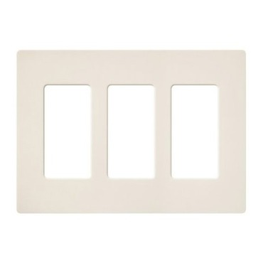 Claro Designer Style 3 Gang Wall Plate by Lutron | sc-3-bi