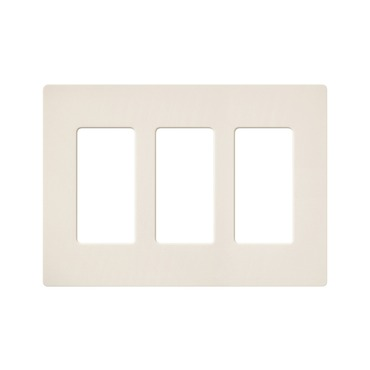 Claro Designer Style 3 Gang Wall Plate by Lutron | sc-3-es
