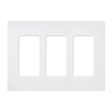 Claro Designer Style 3 Gang Wall Plate by Lutron | sc-3-sw