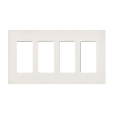 Claro Designer Style 4 Gang Wall Plate by Lutron | SC-4-BI