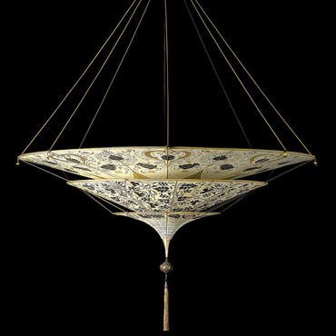 Scheherazade 3 Tier Floral Suspension by Venetia Studium | lc-126 sh-1-br-fl