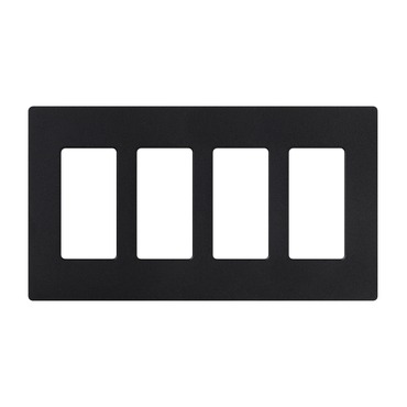 Claro Designer Style 4 Gang Wall Plate by Lutron   sc-4-mn