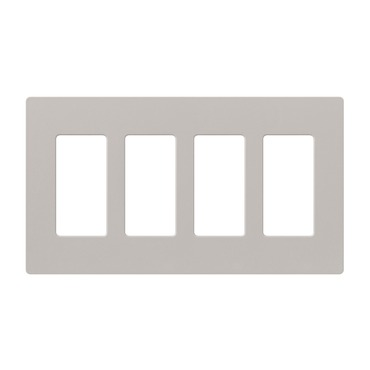 Claro Designer Style 4 Gang Wall Plate by Lutron | SC-4-TP