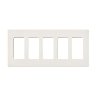 Claro Designer Style 5 Gang Wall Plate by Lutron | sc-5-bi