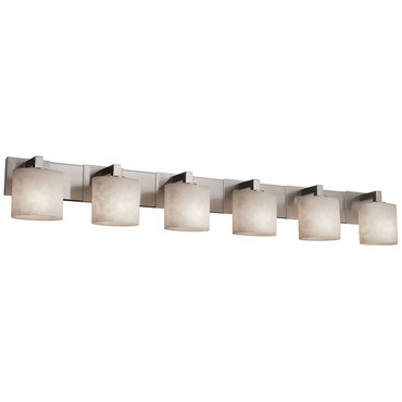 Modular Oval Six Light Bath Bar
