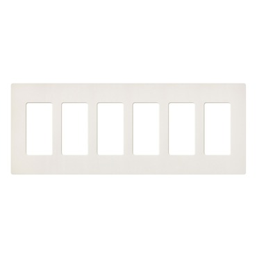 Claro Designer Style 6 Gang Wall Plate by Lutron | SC-6-BI