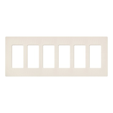 Claro Designer Style 6 Gang Wall Plate by Lutron | SC-6-ES