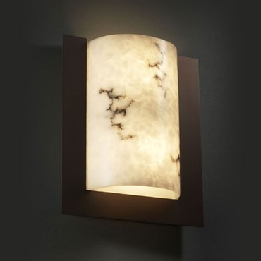 Framed Rectangle 3 Sided Wall Sconce