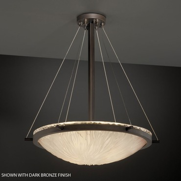 Veneto Luce Suspension by Justice Design | GLA-9692-35-LACE-NCKL