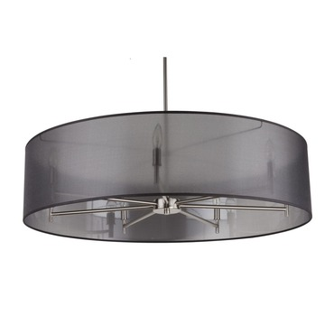 Walker 7 Light Suspension by Lights Up | TS-9070BN-BOR