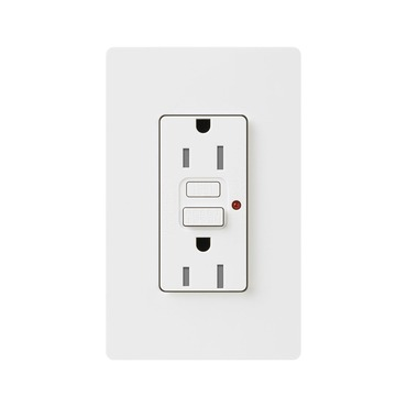 Satin Colors 15A Tamper Resistant GFCI Receptacle