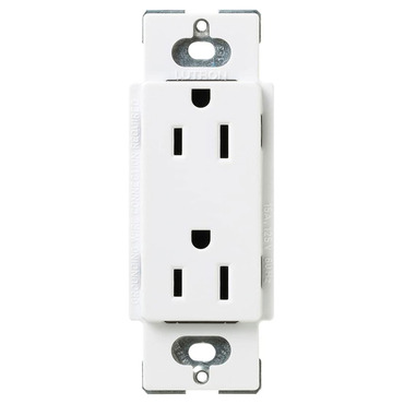 Claro 15A Duplex Receptacle by Lutron | SCR-15-SW