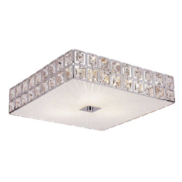 Sunburst Square Flush Mount Ceiling by Trans Globe | MDN-1109
